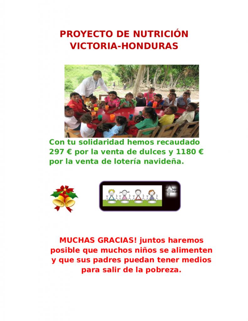 PROYECTO DE NUTRICIÓN VICTORIA-HONDURAS
