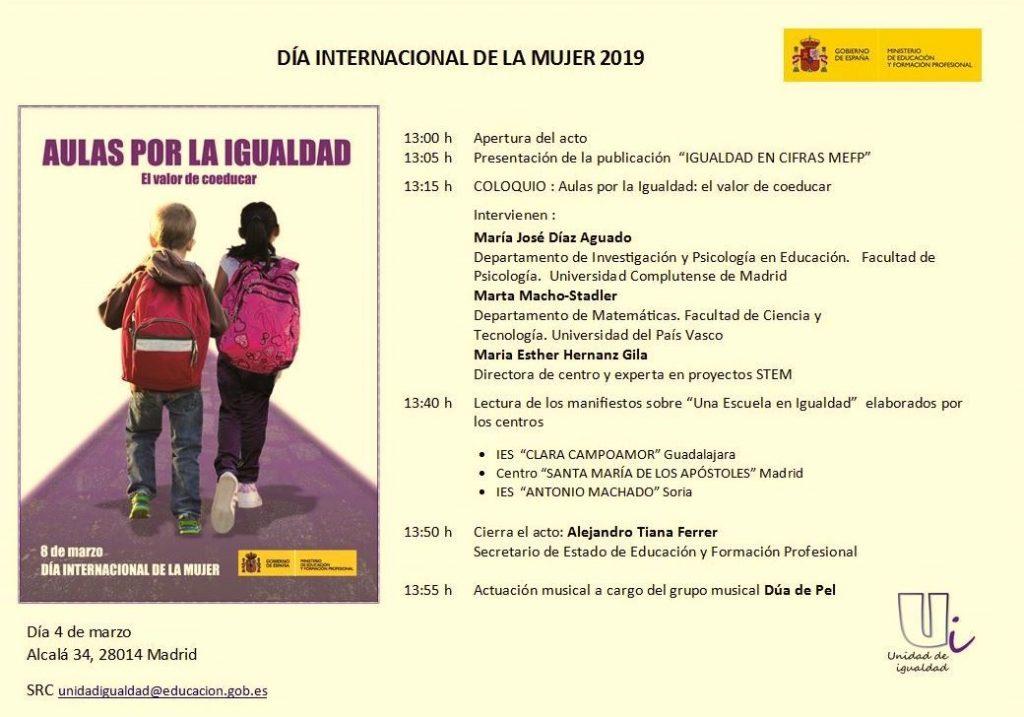 Programa oficial 'Aulas por la igualdad'