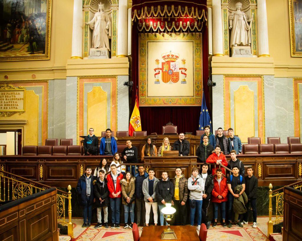 Visita al congreso de los diputados